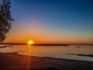 Озеро Свитязь вечер фото